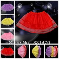 Charming children girls tulle skirt ballet tutu red/yellow/pink tutu free shipping