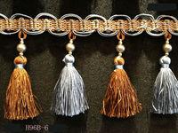 European luxury 9 colors Curtain beads tassel fringe trim decoration for pillows cushions sofas lampshades home texttiles 9.5cm
