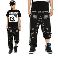 2013 west coast flowers cashew harem pants male hiphop hip-hop trousers wei pants casual sports pants