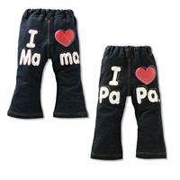 Hot-selling 2013 children's faux denim pants male female child trousers