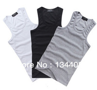 2014 Limited Active Knitted Cotton Shirt Singlet Summer Autumn Hot Sale Sport Running Bodybuilding Sbsorbent Vest