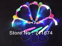 free shipping 600pcs/lot led helicopter arrow mix color  flashing led arrow  toy amazing flying arrow helicopter for christmas