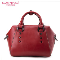 Women's handbag mparis classic fashion handbag genuine leather rivet women's bags b21030