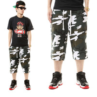 Camouflage 100% cotton hiphop jeans hip-hop pants shorts hiphop capris health pants bboy casual pants