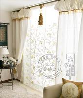 Rustic Curtain Finished Product Curtain Fabric Window Curtain Window Screening Lantern Head Curtain Customize