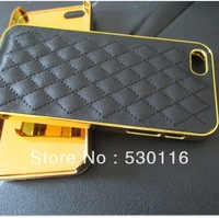 Hot !!! 10 Color High quality Luxury leather case for iphone5 New Fashion Hard back case for iphone 5 5S with Freeshipping