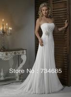 2013 Buy Hot Sell In Stock Cheap Elegant Fashion Designer Discount Destination Unique Beach Bridal Wedding Dresses/Gown On Sale