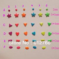 nail decorations  6000pcs/lot 1000pcs/ design punk design  metallic decoration candy color 35design and color for choosing