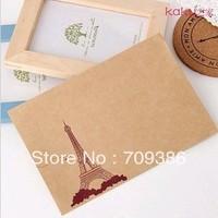 Christmas gift  vintage Eiffel Tower kraft paper korea stationery envelope, 50pcs/lot