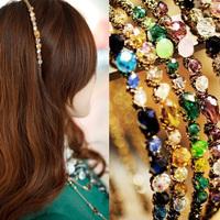 New Women Fashion Exquisite Crystal Rhinestone Barrette Hair Band Hair Accessory