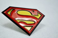 2 pcs Aluminum Superman Emblem badge sticker