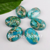 H0116 Free Shopping Beautiful Romantic Fashion Sea Sediment Jasper Cab 6pcs/lot