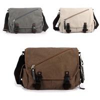 Men Mens Vintage Canvas School Military Shoulder Bag Messenger Bag bookbag Ourdoor 1301