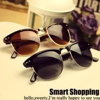 Free Shipping 2004 New Fashion Retro elegant metal star Half-frame Sunglasses For Men & Women Brand Glasses