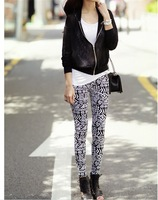 B915 women's legging flower graphic geometric patterns trousers ankle length trousers