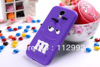 For Samsung Galaxy s4 i9500 M&M Rainbow Bean Color Case 3D Soft Funny Silicon Cover Case Free Shiiping