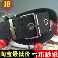 Fashion 308 fashion personality canvas strap basic belt wide belt
