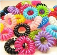 Classic product ultra elastic multicolour telephone cord headband hair rope hair accessory tousheng hair accessory hair pin
