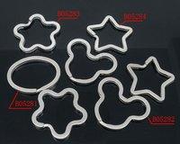 Free shipping!!!! wholesale mixed Silver Tone Split Rings Key Rings