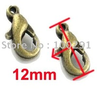 12mm claw lobster clasp Antique brass bronze Jewelry Findings Accessories Components