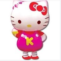 Free Shipping Cute Hello Kitty Cat Shape Aluminum Foil Balloon, Cartoon Character Shape Self-seal Balloon, Best Gift PT0019