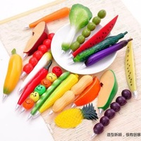 Korea creative gift stationery, happy farm vegetables and fruits of ballpoint  pen, stationery wholesale