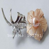 Free Shipping!Wholesale!Handmade!Fresh water pearl brooch