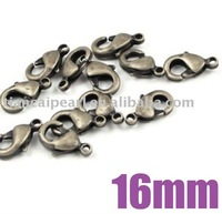 16mm Anitque Brass Bronze Claw Lobster Clasp Jewelry Findings Jewelry Accessories Jewelry Fittings Nickel Free!!