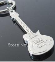 The Korean version creative guitar metal keychains