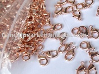 12mm Rose Gold Copper Lobster Claw Lobster Clasp Jewelry Findings Accessories Fittings Components