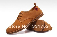 2013 new fashion Men genuine leather Shoes plug size 44/45/46/47 Large size Men's European style casual shoes + free shipping