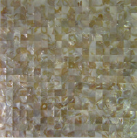 Chinese river shell mosaic white colour seamless on mesh/ hot sale shell mosaic tile