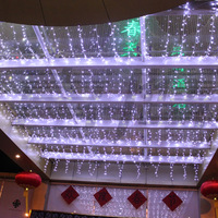 HOT 4MX4M Holiday Decoration Christmas LED Net Lights,512LEDs Curtain Light Lamp Coloful Lighting for Bar Hotel Free Shipping