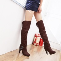 Customize plus size tube knee-length boots high-heeled long boots high-leg boots tall boots plus size 40 - 43