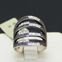 New arrival   CS viennois Antique Silver plate   fashion  rings with rhinestone  V060844R