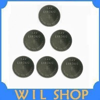 Free Shipping Wholesale 6pcs/lot 3.6V LIR2032 LITHIUM-ION Rechargeable Batteries