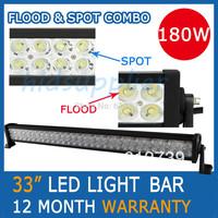 "33"" 180W offroad led light bar  WORK LIGHT Bar DRIVING LIGHT FOR ATV 4x4 TRUCK BOAT TRACTOR MARINE IP67 Spot Flood Combo Beam"