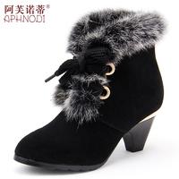 2013 rabbit fur fashion boots martin boots female