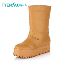 2013 snow boots waterproof boots thickening villus platform boots thermal knee-high boots