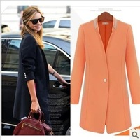 Fashion new 2013 slim waist elegant Candy Colours One Botton outerwear suit Long Sleeve Blazers  c624