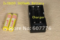 $12.65 2 pcs Ultrafire Lithium Ion 3600 mAh 18650 Rechargeable 18650 Batteries + battery Charger