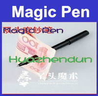 High Quality Free shipping Wholesale 20pcs/plastic pen through dollar Magic tricks/magic show/magic toys