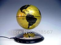 Educational Glod Electro Magnetic Levitation antigravity Floating 4 inch Globe Map best Gift free shipping