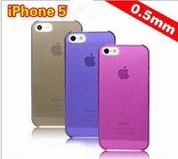 Free Shipping 200pcs/lot 9 Colors Ultrathin Transparent Phone Cover Case for iPhone 5