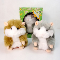 High Quality Russian English Speaking Likable Hamster Copy Voice Pet Recorder Talking Plush Toy for kid's gift