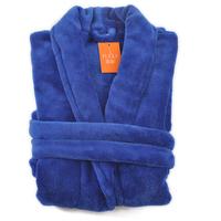 2014 Navy blue coral fleece robe sleepwear bathrobes lounge kimono style bathrobes for men Free shipping