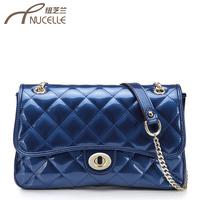 Women's handbag plaid 2013 patent leather chain bag messenger bag