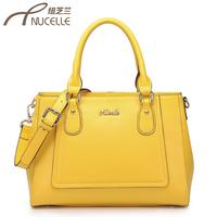 Women's handbag 2013 candy color cowhide cross handbag cross-body dual-use package