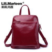 Lily backpack women's handbag female handbag 2014 cowhide  bag messenger bag jelly bag