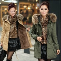 2014  thickening cotton-padded clothes collars cotton-padded coat